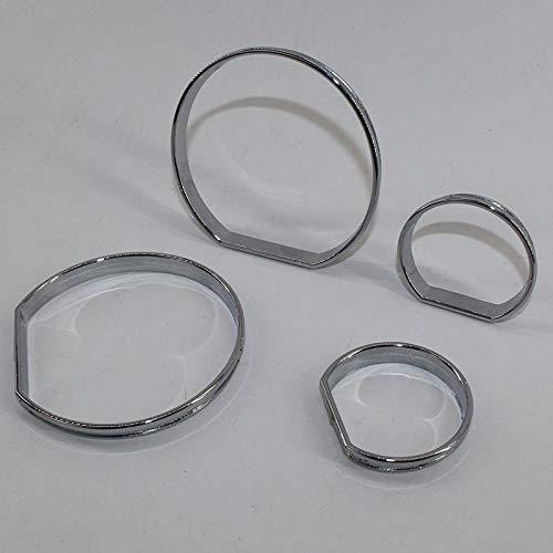 - PAKCEEINC Chrome Speedometer Gauge Dial Rings Bezel Trim for BMW E46 M3 M