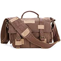 Moaac Waterproof Canvas Sling FI DSLR Camera Bag with Shockproof Insert - Brown