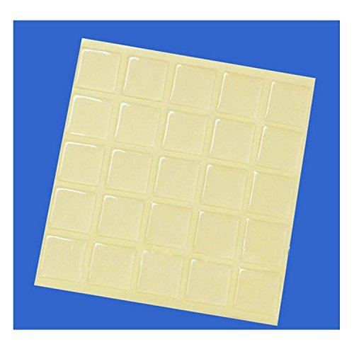 Smart 100 Piece Square Epoxy Stickers 1 Inch for Collage Pendants and Bracelets Tile Resin Dome
