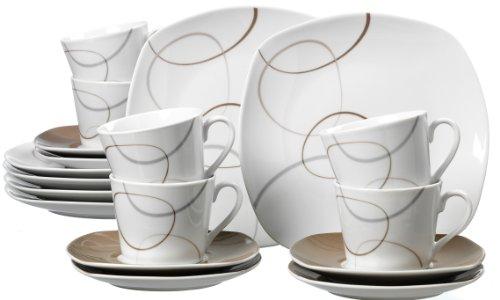 Ritzenhoff & Breker  595192 Kaffeeservice Alina Marron, 18-teilig