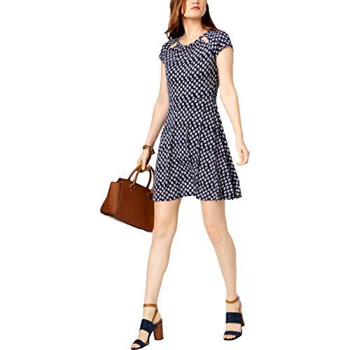 Michael Michael Kors Womens Cutout Short Sleeve Casual Dress Navy XL (Michael Kors Casual Dresses)