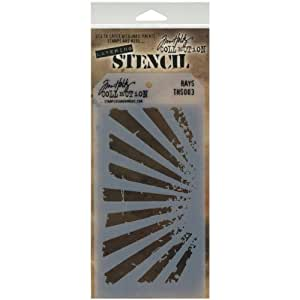 Stampers Anonymous Tim Holtz Layered Stencil, 4.125 by 8.5-Inch, Rays