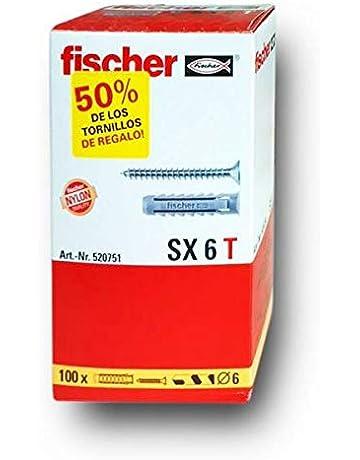 FISCHER Taco SX 6x30 T (Caja Tacos + 100 Tornillos), 520751