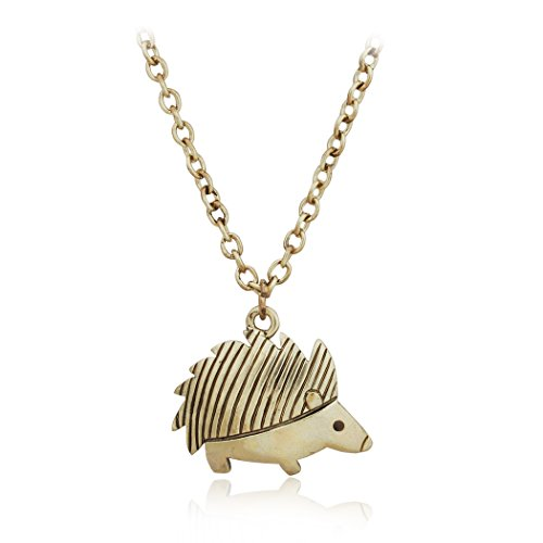 PearlPlus Hedgehog Charm Pendant Necklaces Cute Animal Jewelry For Women(PN-01597) (Female Sonic The Hedgehog)