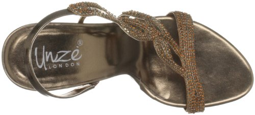 Sandali Tacco Evening Unze Sandals l18178w Col Marrone Donna braun wqaqIxd