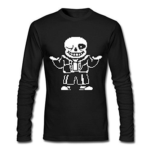 100% Pre-washed Cotton Men's Video Game Undertale Characters Sans T-shirts Black