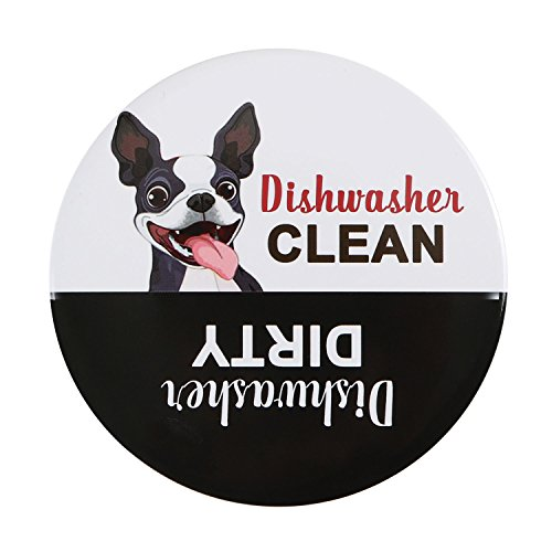 Premium Dishwasher Magnet Clean Dirty Sign, iRush Non-Scratching Backing Rotated Indicator Works for Dishwashers, Reminder Tells Whether Dishes Are Clean or Dirty
