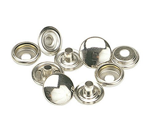K2708-11-C C.S. OSBORNE & CO. SNAPS FASTENERS PK/100 - 1/2 brass nickel plated Caps, Studs, Eyelets and Sockets