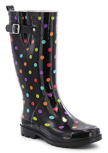 - Western Chief Women Women's Printed Tall Rain Boot, Dot City Black, 6 M US