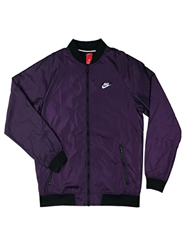 NIKE Mens Varsity Windrunner Quick Strike Running Jacket Vivid Purple/Black (XX-Large) -