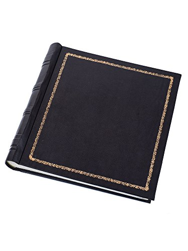 Cozzi - Gold-leaf blue leather photo album by Cozzi Legatoria
