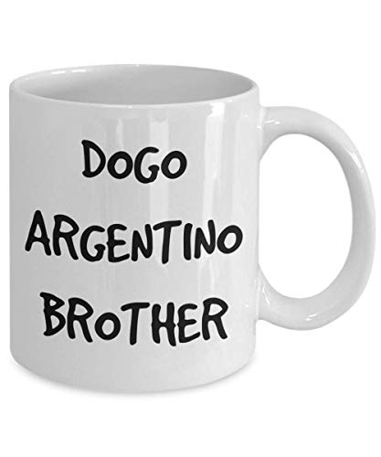 Dogo Argentino Brother Mug - White 11oz 15oz Ceramic Tea Coffee Cup - Perfect For Travel And Gifts 2