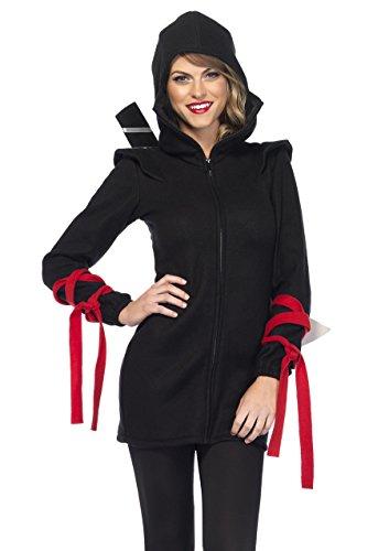 Leg Avenue Ninja Costume (Leg Avenue Women's Cozy Ninja, Black, X-Large)