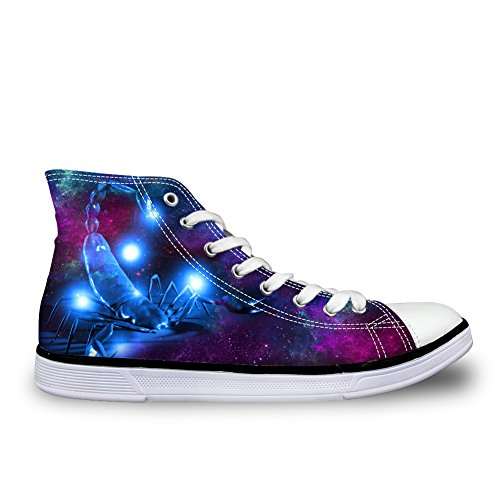 Bigcardesigns Galaxy Animale Casual High Top Sneakers In Tela Scorpione