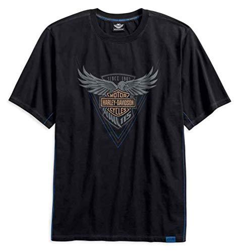 (Harley-Davidson Men's 115th Anniversary Short Sleeve Tee, Black 99013-18VM)