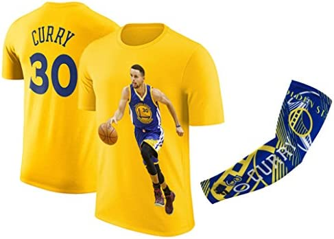 promo code f4775 66ee6 Steph Curry Jersey Style T-shirt Kids Curry Yellow T-shirt Gift Set Youth  Sizes ✓ Premium Quality ✓ Breathable Lightweight ✓ Gift Basketball Curry  Arm ...