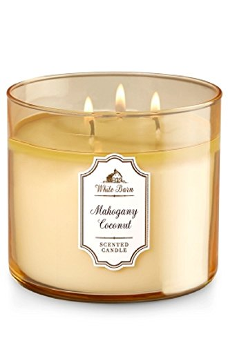 Bath & Body Works White Barn 3-Wick Candle in Mahogany Coconut by Bath & Body Works