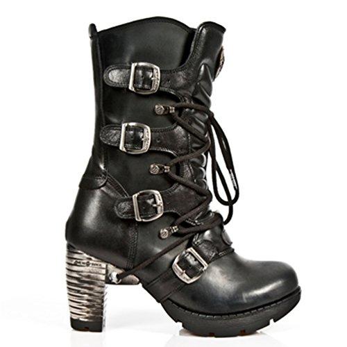 NEWROCK New Rock Botas Estilo M.TR003 S1 Negro Mujer Talones De Acero