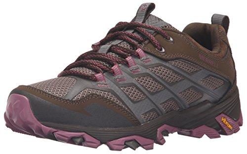 Merrell Womens/Ladies Moab Fst transpirable piel–Zapatos de Senderismo, mujer, Moab Fst-w, gris, 9.5 B(M) US