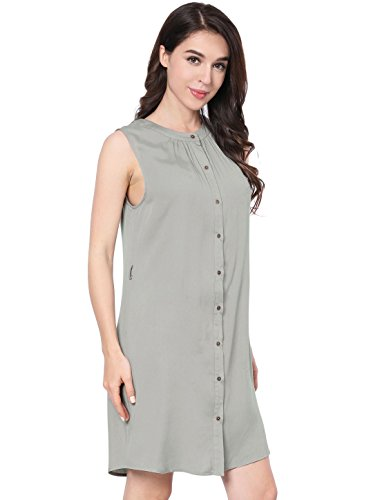 Knee K Allegra Belted Sleeveless Crammed Above Woman Grey Dress qzqxXdT6w