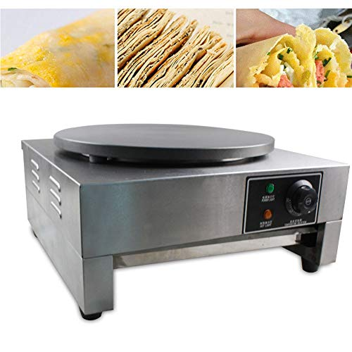 Electric Crepe Maker, 3KW Electric Pancakes Maker Griddle, 16'' Electric Nonstick Crepe Pan with Batter Spreader, Precise Temperature Control for Blintzes, Eggs, Pancakes and More by NOPTEG (Image #1)