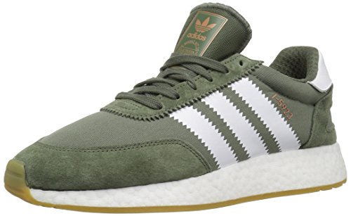 (adidas Originals Men's I-5923 Running Shoe, Base Green/White/Gum, 10.5 M US)