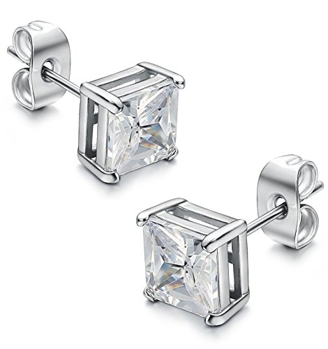 Jstyle Stainless Zirconia Earrings Piercing