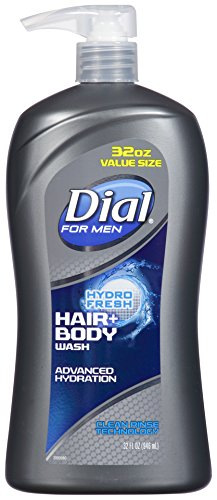 Dial for Men Hair + Body Wash, Hydro Fresh, 32 Ounce ()