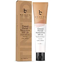 Tinted Facial Sunscreen - DD Cream For Face SPF 20, Sweat and Water Resistant Broad Spectrum UVA & UVB Protection, Mineral Foundation for Skin Tone Correction and Sun Protection, Light Beige 2oz