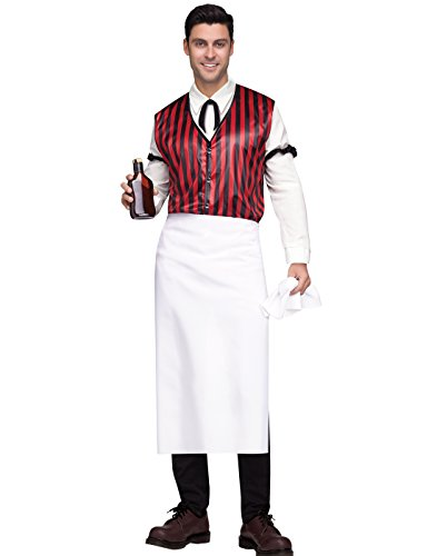 Fun World Men's Wild West Saloon Keeper Costume, Multi, ()