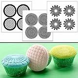 gel kitchen mats canada Autumn Carpenter Designs Cupcake Top Impression Mat Set - Geometric