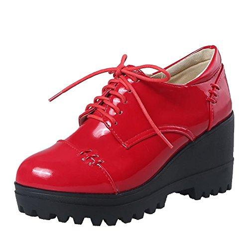 Donna MissSaSa Scarpe Elegante con Platform Rosso 4ZpdZx7w