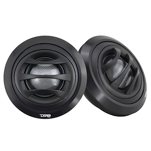 DS18 EXL-TW2.5 Tweeter 1-inch Extremely Loud Series 100 Watts Max Silk Dome Ferrite Tweeter Ferro Fluid Sound Quality - Set of 2 (Black) ()