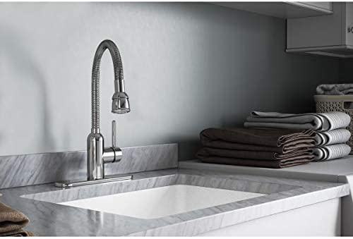 Elkay LK2500CR Laundry Utility Faucet with Flexible Spout and Forward Only Lever Handle, Chrome
