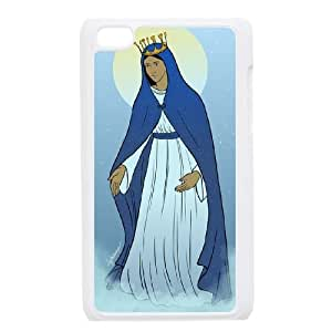 DIY iPod Touch 4 Case, Zyoux Custom New Design iPod Touch 4 Plastic Case - Virgin Mary