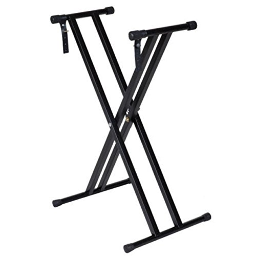 Adjustable Stand Keyboard Desk Double Holder Heavy Braced X-Style Electronic Piano Stand