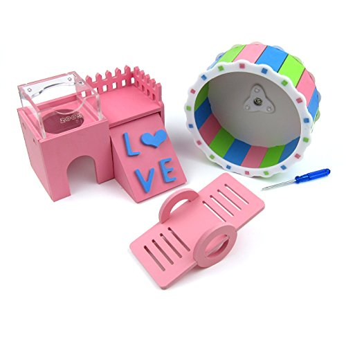 Alfie Pet by Petoga Couture – Scoot 3-Piece Toy Set for Mouse, Chinchilla, Rat, Gerbil and Dwarf Hamster 419dbB 9EIL