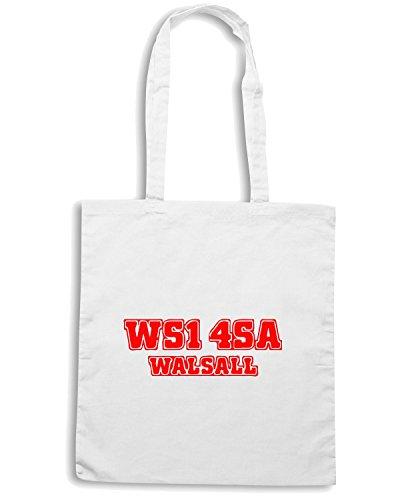 T-Shirtshock - Bolsa para la compra WC1082 walsall-postcode-tshirt design Blanco