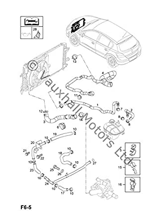 Genuine Vauxhall Astra H 1.7 Cdti 2004-2009 Hose Radiator Inlet 13124305