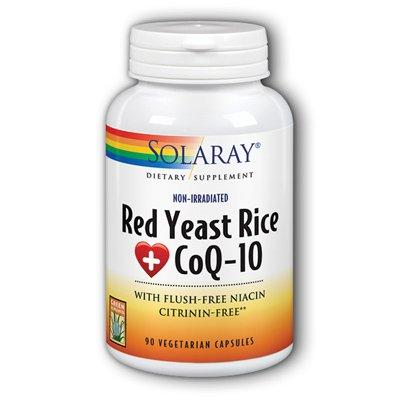 Levure de riz rouge plus Coq10 90 Caps - Solaray