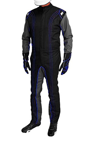 K1 Race Gear CIK/FIA Level 2 Approved Kart Racing Suit (Blue, Large)