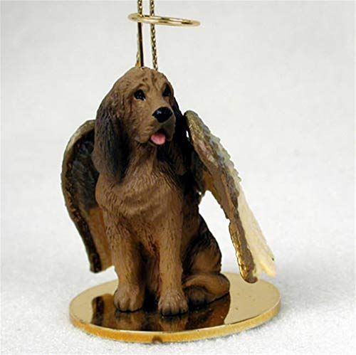 Ky & Co YesKela Bloodhound Ornament Angel Figurine Hand Painted