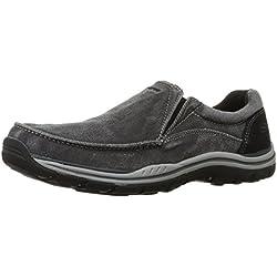 Skechers USA Men's Expected Avillo Relax Fit Slip-On Loafer,Black,9.5 M US
