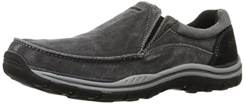 Skechers USA Men's Expected Avillo Relaxed-Fit Slip-On Loafer,Black,9.5 M US