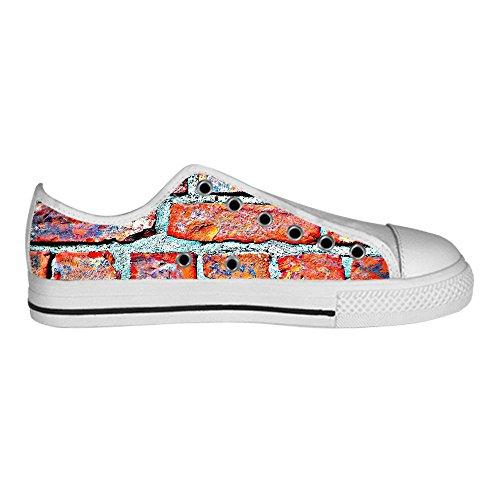 Custom gemauerte Wand Textur Mens Canvas shoes Schuhe Lace-up High-top Sneakers Segeltuchschuhe Leinwand-Schuh-Turnschuhe C