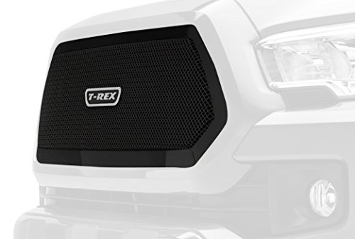 ass Series Stainless Steel Main Grille Insert with Small Mesh for Toyota Tacoma Black Powdercoat ()