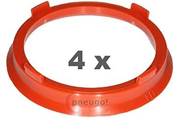 Kit 4 anelli di centraggio 66,6-57,1mm da 66.6 a 57.1 mm cerchi ruote universali