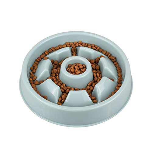 IAMUQ Slow Feeder Bowl - Slow Eating Dog Bowl - Health Pet Bloat Stop Dog Bowl - Hold 1.5-2 Cups of Food