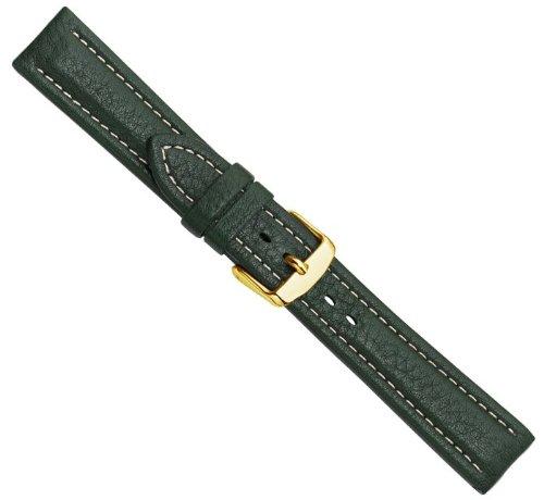 Bio-Leder Uhrenarmband Kalbsleder XL Dunkelgrün 20534G, Stegbreite:20mm