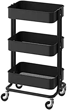 Ikea Råskog Kitchen Cart - Carrito con ruedas Easy Glide (35 x 45 x 78 cm), color negro: Amazon.es: Hogar
